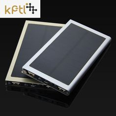 KPTL Solar Power Bank Dual USB Power Bank 20000mAh External Battery Portable Charger Bateria Externa Pack for Mobile phone