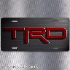 TRD ALUMINUM VANITY LICENSE PLATE JDM RACING NEW UNIQUE GRAPHITE LOOK DESIGN