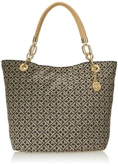 Tommy Hilfiger 6923845 Landmark Jacquard Shoulder Bag,Black/Cream,One Size Tommy Hilfiger,http://www.amazon.com/dp/B00HR14TZ2/ref=cm_sw_r_pi_dp_b.Rutb0T4BSH44MC