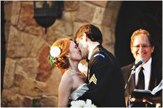 first kiss as hubby and wife :)   Photo by http://jaredrey.com/