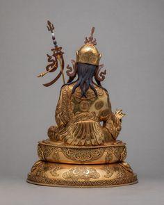 Guru Rinpoche Statue | Plated With Pure 24k Gold | Padmasambhava  Statue