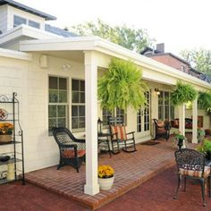 German Village Cottage Renovation - Love the all brick back patio with small covered porch