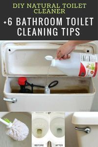 DIY Natural Toilet Cleaner + 6 Bathroom Toilet Cleaning Tips - #bathroomcleaningtips