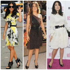Dicas, Ampulheta, Moda, O que vestir, Decote, Cintura, Físico Ideal, Looks Salma Hayek