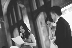 Speeches during a wedding at the Hempstead House in Sands Point Preserve, Long Island. Captured by NYC wedding photographer Ben Lau.