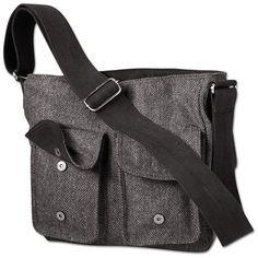 LOVE the tweed messenger bag