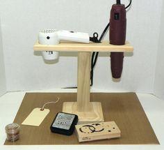 Brilliant! Hands-free embossing!!! Jim Robertson http://www.etsy.com/listing/88760926/hands-free-embossing-heat-gun-station