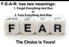The meaning of fear!  #positive quotes