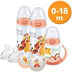 NUK Disney Baby Bottle Soother and Sippy Cup Set Months, Winnie the Pooh Design with 2 Baby Bottles, 1 Sippy Cup, 2 Soother Dummies and 2 Silicone Bottle Teats 2nd Baby, My Baby Girl, Winnie The Pooh Nursery, Newborn Schedule, Disney Baby Clothes, Baby Supplies, Baby Alive, Baby Bottles, Baby Boy Outfits