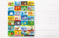 'Alphabet Poster' Canvas Print by Laila Hills, £64.95 from Happy Spaces