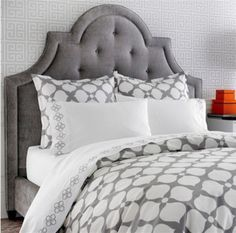 Hollywood Grey Duvet  Price: $175.00 | Visit Store »  Uploaded by Morgan Spenla  This Jonathan Adler print would look great in an industrial bedroom loft. Geometric print? Check. Soft muted colors? Check. Contemporary yet comfy.