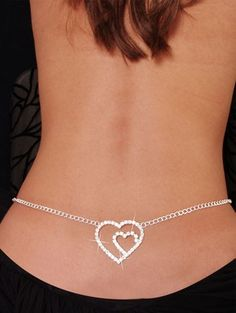 59a8f74a2303 Original Collar de Cintura Gran Corazón. Un precioso Collar en color plata  para lucirlo en