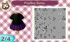 My playboy bunny dress I made on animal crossing (qr code 2)