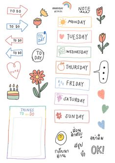 Planner Stickers - Manage Your Time With This Helpful Advice Bullet Journal Aesthetic, Bullet Journal Art, Bullet Journal Ideas Pages, Bullet Journal Inspiration, Printable Stickers, Cute Stickers, Printable Scrapbook Paper, Laptop Stickers, Journal Stickers