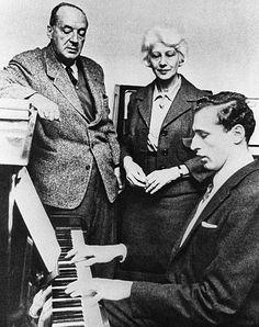 Vladimir Nabokov, his wife Vera and their son Dmitry.