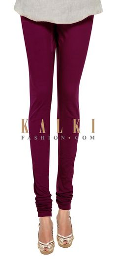Buy Online from the link below. We ship worldwide (Free Shipping over US$100) Price- $9 Click Anywhere to Tag http://www.kalkifashion.com/wine-cotton-hosiery-legging-only-on-kalki.html