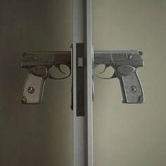 Pistol Grip Door Knobs