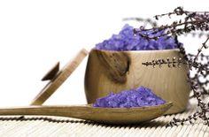 DIY - Make Lavender Fizzing Bath Salts... safety tips to avoid bath salts explosion