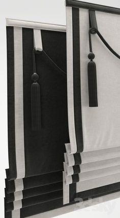 3d models: Curtain - Roman Shade 24