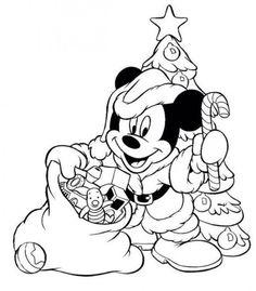 Micky Mouse Santa