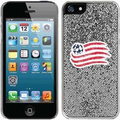 New England Revolution Emblem Design on Apple iPhone 5SE/5s/5 Thinshield Glitter Bling Case by Coveroo