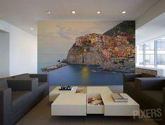 Hermoso #fotomural de Cinque Terre para el salón