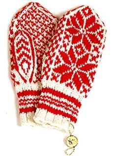 Selbu votter (Selbu mittens) Wool mitten very popular in Norway. Easy to find handmade.