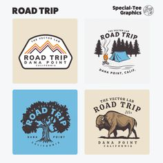 Road Trip - TheVectorLab Store Signage, Affinity Photo, Affinity Designer, Graphic Design Software, Photoshop Illustrator, Coreldraw, One Design, Graphic Design Inspiration, Logo Templates