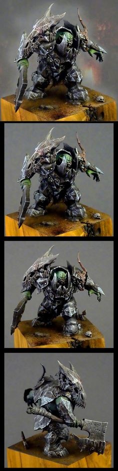 WAAAAAGH!!! Orc knight miniature