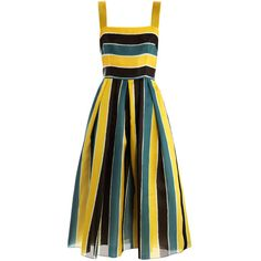 Dolce & Gabbana Organza Stripe Sun Dress (25.102.670 IDR) ❤ liked on Polyvore featuring dresses, vestidos, short dresses, dolce & gabbana, sundress dresses, short loose dresses, fitted tops, sleeveless dress and midi dress