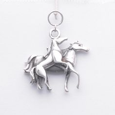 Sterling Silver Horse Charm by Donna Pizarro from her Animal Whimsey Collection of Fine Horse Jewelry and Custom Horse Jewelry