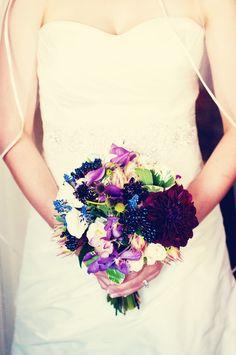 Mixing florals and colors // Photo by Sarah M. #minneapolisweddingflorist #weddingflowers #colorfulbridalbouquet