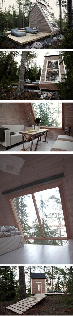 """Nido"" micro cabin @ Finland http://tinyhouselistings.com/robins-micro-house/"