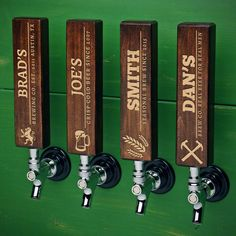 Our exclusive thick hardwood beer tap handles make a statement in any home bar, game room, or man cave. Handmade of hardwood maple right here in the heartland of the USA, and sold individually with...