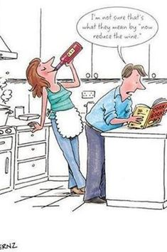 Cooking with Wine...ha ha love it Xx Lucky I don't drink wine actually prob be me doing this while cooking lol #WineHumor
