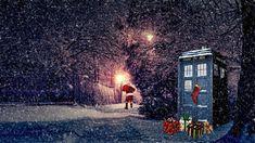 tardis | TARDIS Christmas nighttime wallpaper