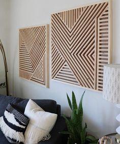 Wood wall art, geometric wood art, geometric wall art, reclaimed wood - All For Herbs And Plants Reclaimed Wood Wall Art, Wood Wall Decor, Wooden Wall Art, Wooden Walls, Room Decor, Art Decor, Salvaged Wood, Ideas Hogar, Geometric Wall Art