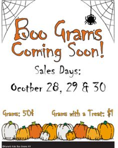 6 Best Images of Free Printable Boo Flyers - Candy Gram Halloween Fundraiser Flyer, We've Been Booed Sign and We've Been Bood Pta School, School Auction, School Clubs, School Fundraisers, School Events, School Counseling, School Days, 100 Day Of School Project, School Projects