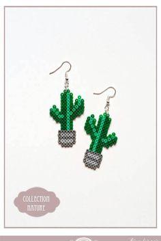Boucles d'oreilles Collection Nature cactus /