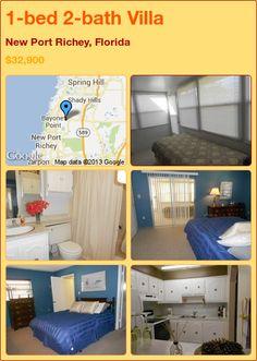 1-bed 2-bath Villa in New Port Richey, Florida ►$32,900 #PropertyForSale #RealEstate #Florida http://florida-magic.com/properties/3343-villa-for-sale-in-new-port-richey-florida-with-1-bedroom-2-bathroom