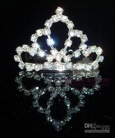 Rhinesone Pageant Tiara Crown Crystal Princess Crown Tiara Bridal Hair Jewelry $16.25   DHgate.com