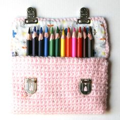 Pencil pouch by Isabelle Kessedjian. ♥ I would love one of these for my art pens or art pencils