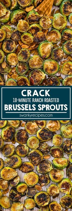 Feb 2020 - Perfect Roasted Brussels Sprouts - Quick sheet pan sprouts with an outrageous flavor. Crispy ranch brussels sprouts made in A healthy vegetable side dish recipe to make for dinner or holiday. This Crack Brussels Sprouts recipe is addictive! Veggie Side Dishes, Vegetable Sides, Food Dishes, Quick Side Dishes, Vegetable Meals, Vegetable Dish, Yummy Healthy Side Dishes, Sprouts Vegetable, Vegetarian Side Dishes