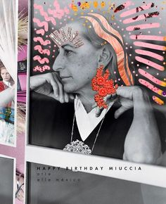 Celebramos el cumpleaños de una de nuestras diseñadoras maximalistas favoritas #mucciaprada  #ElleMx  via ELLE MEXICO MAGAZINE OFFICIAL INSTAGRAM - Fashion Campaigns  Haute Couture  Advertising  Editorial Photography  Magazine Cover Designs  Supermodels  Runway Models