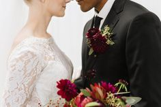 Marsala dahlia and ranunculus boutonniere at sixty five hundred wedding. Cristy Angulo Photo