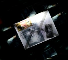 The lost letter pvc,photography on transparent film, two way mirrors, led 131-38-36