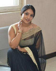 Bommu Lakshmi Black Saree Stills ★ Desipixer ★ Indian Wife, Indian Girls, Beautiful Old Woman, Beautiful Saree, Tamil Actress, Bollywood Actress, South Indian Actress Photo, Aunty Desi Hot, Saree Backless