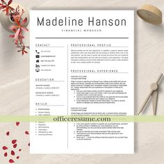 Resume Template Word Mac Custom Professional Resume Template Instant Download 3 Page Resume Resume .