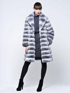 pale chinchilla fur coat