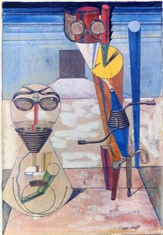 Max Ernst (German 1891–1976) [Dada, Surrealism] Ambiguous Figures (1 copper plate, 1 zinc plate, 1 rubber cloth...), 1919. Collection Judith and Michael Steinhardt, New York, USA.